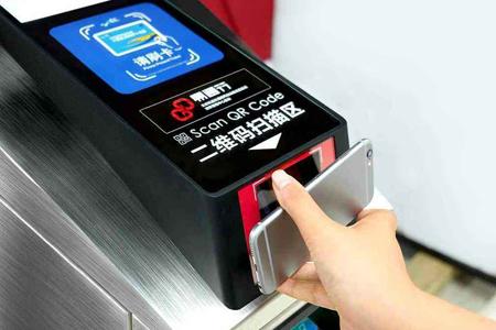 北京地铁机场线闸机内嵌二维码扫描读头,实现刷手机二维码进站